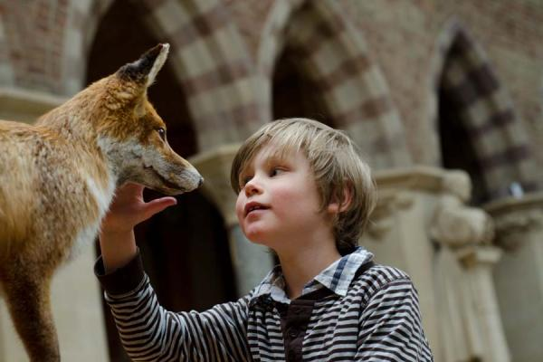 Child with fox