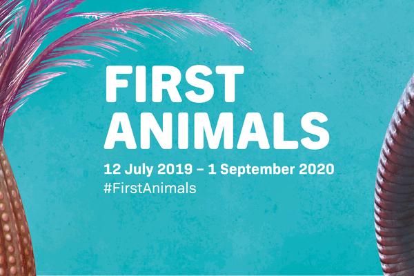 First Animals exhibition banner