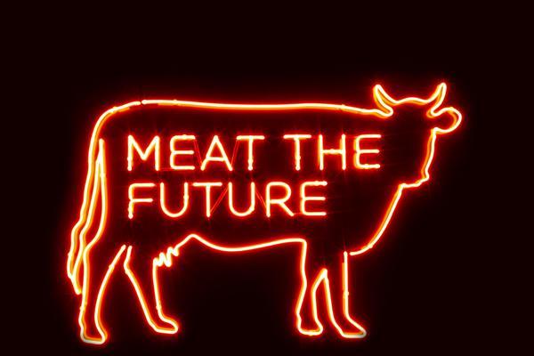Meat The Future neon logo