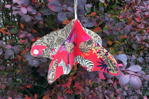 paper moth decoration
