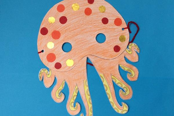 Ready-made octopus mask