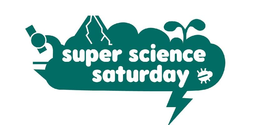 Super Science Saturday teal logo