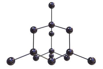 image showing a diamond's carbon structure